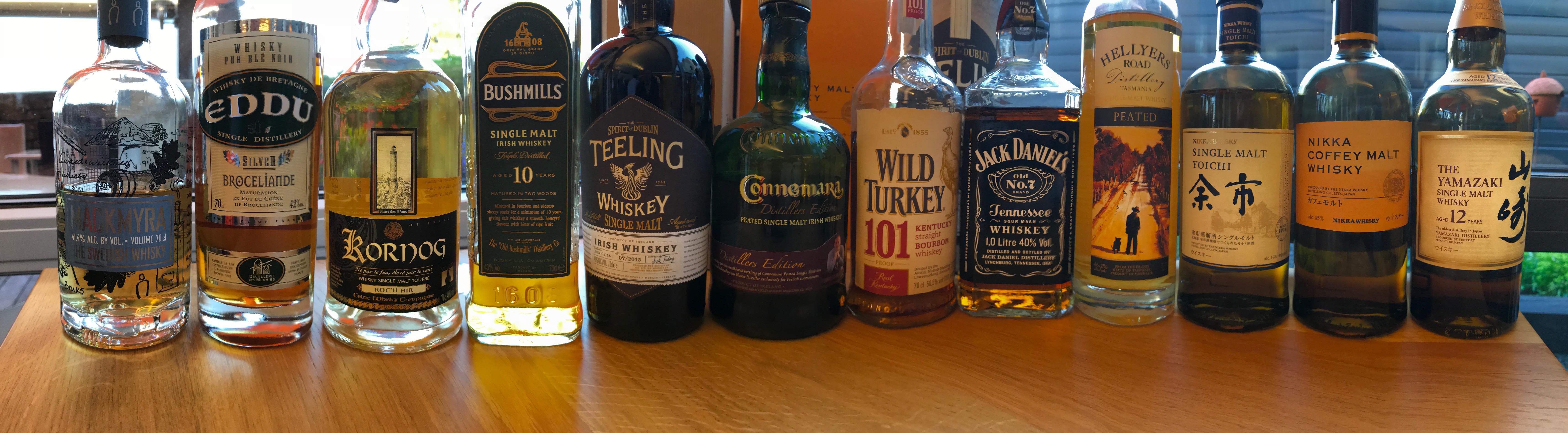 Whiskies du monde : Commentaires de dégustation